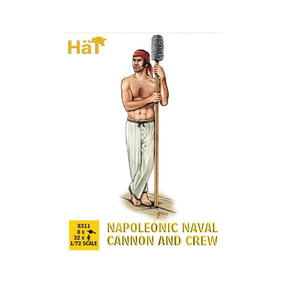 NAPOLEONIC NAVAL CANNON AND CREW. 1/72 HAT 8311