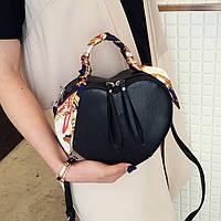 Женская сумка Сердце JingPin черная, фото 1