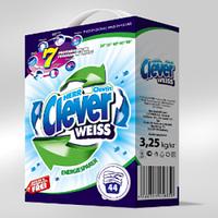 Пральний порошок Clever Weiss 3,25 кг  К/К