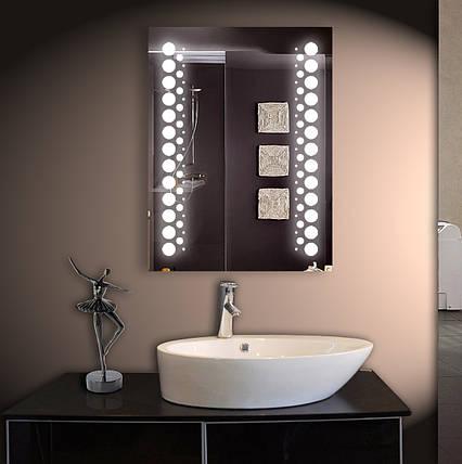 Зеркало LED со светодиодной подсветкой ver-3014 600х800 мм, фото 2