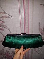 Зеленый атласный клатч Accessorize, фото 1