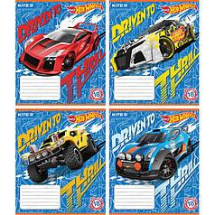 Тетрадь 18 листов линия Kite Hot Wheels HW18-237