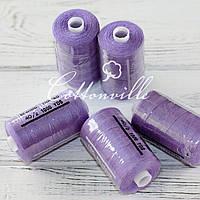 Нитки швейные 40s/2 прочные (1000Y) цвет фиолетовый