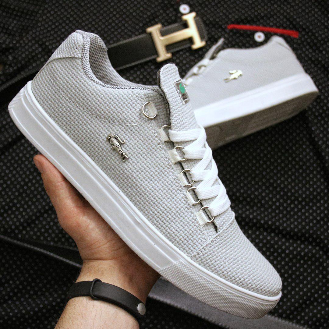 a46e15daa502 Купить Мужские кеды Lacoste Grey and White в Украине.