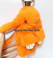 Брелок кролик, натуральный мех, 15 см