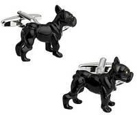 Запонки Собака, черная собака, для всех собаководов, любителей домашних животных , фото 1