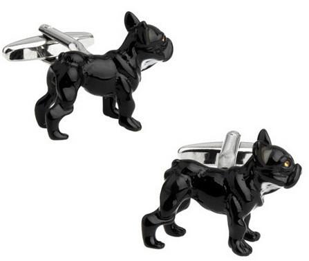 Запонки Собака, черная собака, для всех собаководов, любителей домашних животных