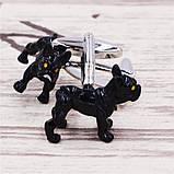 Запонки Собака, черная собака, для всех собаководов, любителей домашних животных , фото 3