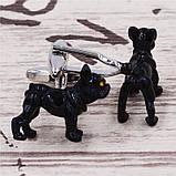 Запонки Собака, черная собака, для всех собаководов, любителей домашних животных , фото 4
