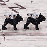 Запонки Собака, черная собака, для всех собаководов, любителей домашних животных , фото 5