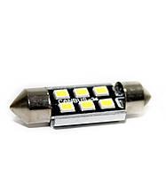 LED світлодіодна авто лампа BTLE1285, C5W, SMD2835, CANBUS, обманка, 36 мм білий