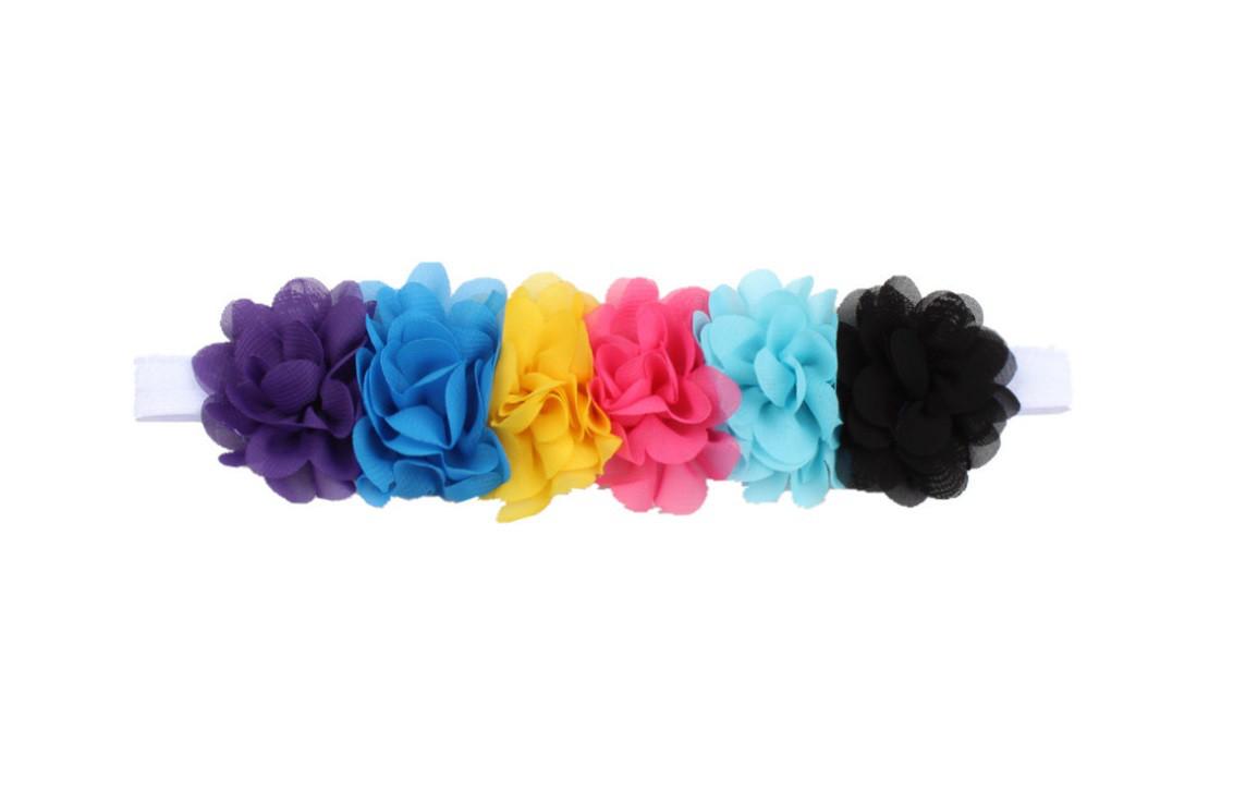 Повязочка детская с цветами