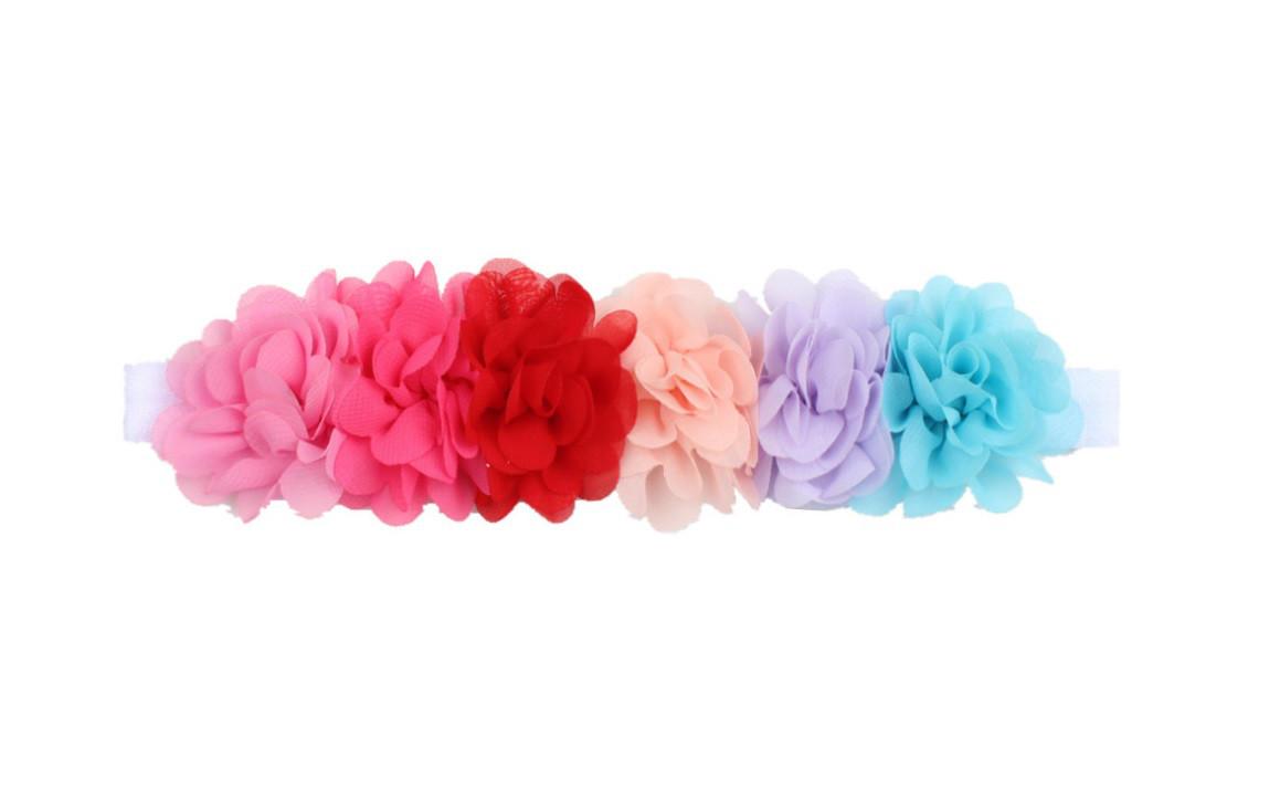 Повязка детская с цветами