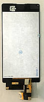 Модуль (дисплей+сенсор) для Sony E5603, E5606, E5633, E5653, E5663 Xperia M5 Dual білий, фото 2