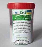 Невысыхающая термопаста TS-3 банка 100г. 3-3,2 Вт/(м•К) от производителя