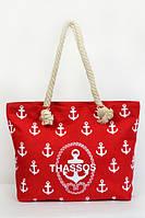 Красная сумка модного фасона