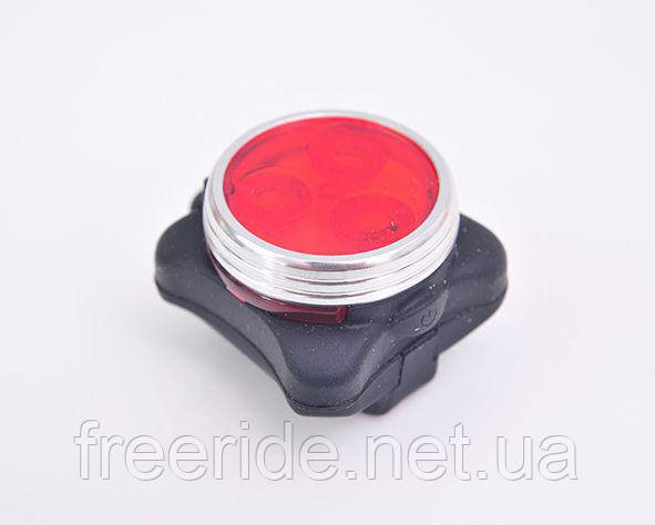 Фонарь задний 3 диода 10 lumen, зарядка от USB, HJ-030 3