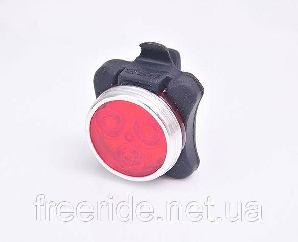 Фонарь задний 3 диода 10 lumen, зарядка от USB, HJ-030 2
