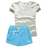 Женские шорты и футболка, комплект. Размеры 40-56.Мод. М-28.., фото 4