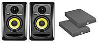 Студийные мониторы KRK RP4 G3 + акустические стенды