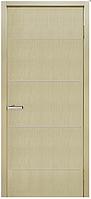 Межкомнатные двери Шпон Офис ПГ с молдингом Дуб беленый