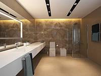 Подвесная столешница для ванной комнаты из искусственного камня.
