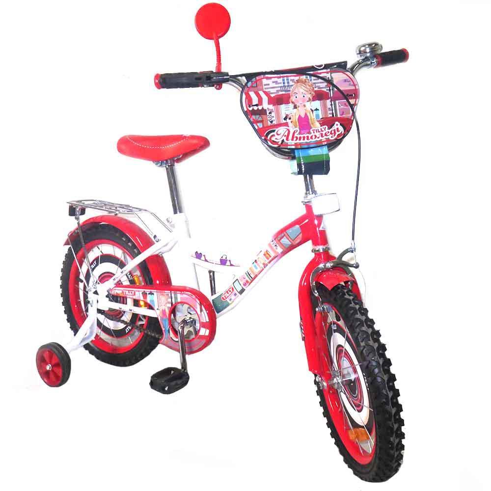 """Велосипед двоколісний Tilly Автоледі 16"""" T-21628"""