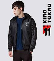 11 Kiro Tokao | Японский бомбер весенне-осенний 9991-1 черный