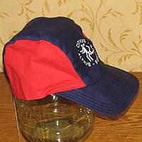 Хлопковая кепка Новая темно-синяя с красным