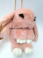 Рюкзак кролик, натуральный мех, на цепочке, 32 см!
