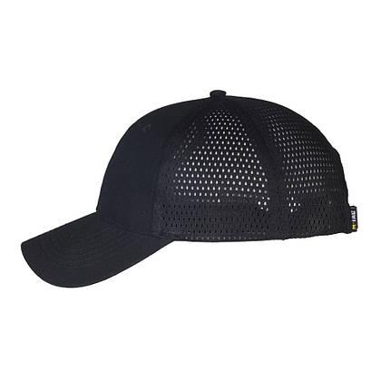 Бейсболка летняя с сеткой чёрная, фото 2