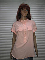 Блуза персикового цвета с коротким рукавом Exclusive р XL ( 52-54)