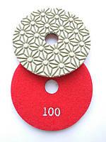 """Гибкие полировальные круги, алмазные липучки, """"Черепашки"""" для полировки гранита и мрамора d100mm №100"""