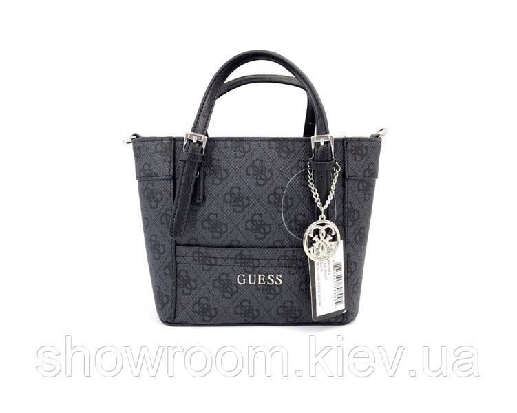 Женская бреновая сумка Guess (814) темно серая
