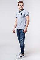 Мужская серая рубашка поло