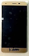 Модуль (дисплей + сенсор) для Oukitel K6000 золотий