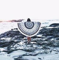 Пляжный коврик Mandala light blue 140см, фото 1