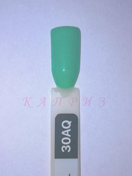 """Гель-лак для ногтей """"Ваsic collection"""" 8 мл, KODI AQUAMARINE 30AQ  (аквамариново-бирюзовые оттенки)."""