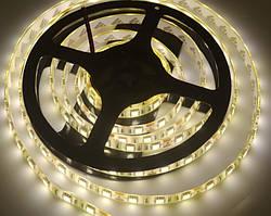 Светодиодная лента LED влагозащищённая, 12V, SMD5050, IP65, 60 д/м, белый теплый