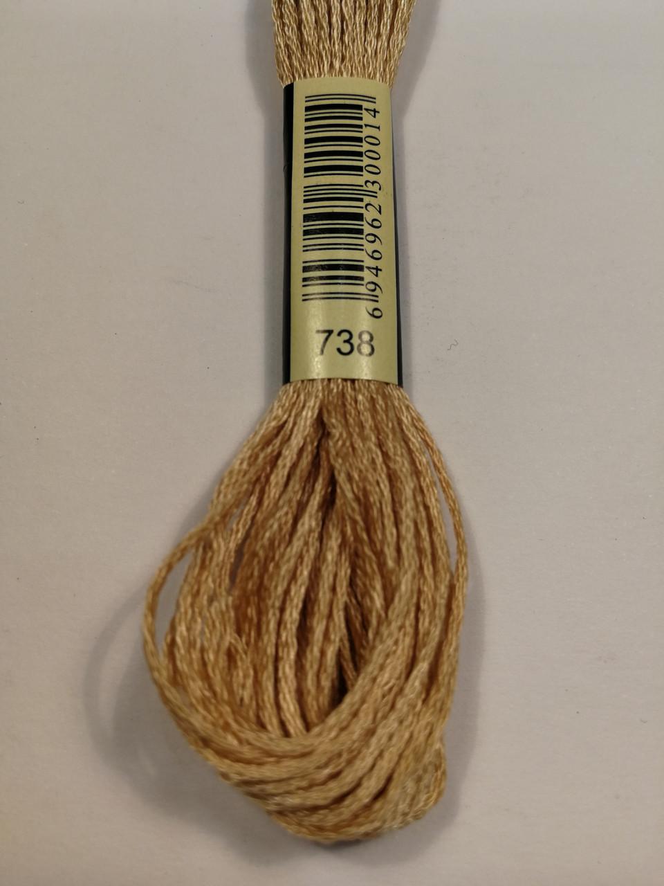 Мулине СХС 738 желто-коричневый светлый