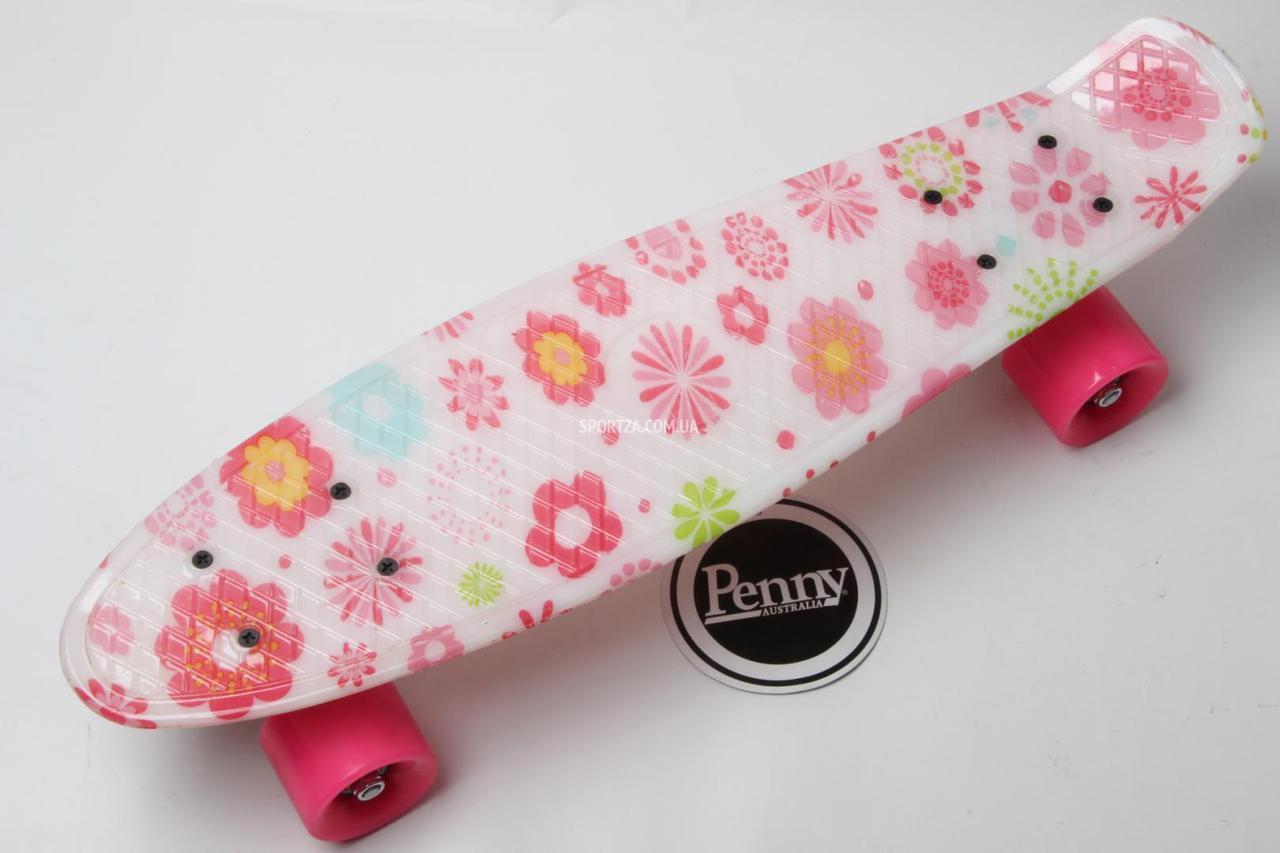 6cf8207b13af Самая дешевая цена в Украине на Скейт Пенни Борд Print, Penny Board  Original 22 c Рисунком Цветочки, купить по самой низкой цене в Киеве,  Одессе,