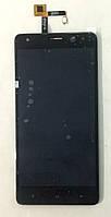 Модуль (дисплей+сенсор) для Oukitel K6000 чорний