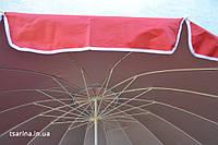Торговый зонт.Зонт для сада.3 метра.серебро.клапан.