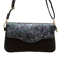 """Женская маленькая сумочка -клатч через плечо """"Цветы"""" 2119/2, фото 1"""
