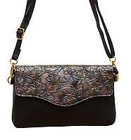 """Женская маленькая сумочка-клатч через плечо """"Цветы"""" 2119/3, фото 1"""