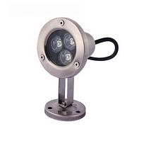 Подводный  светильник 3W зелёный IP68 светодиодный Ecolend