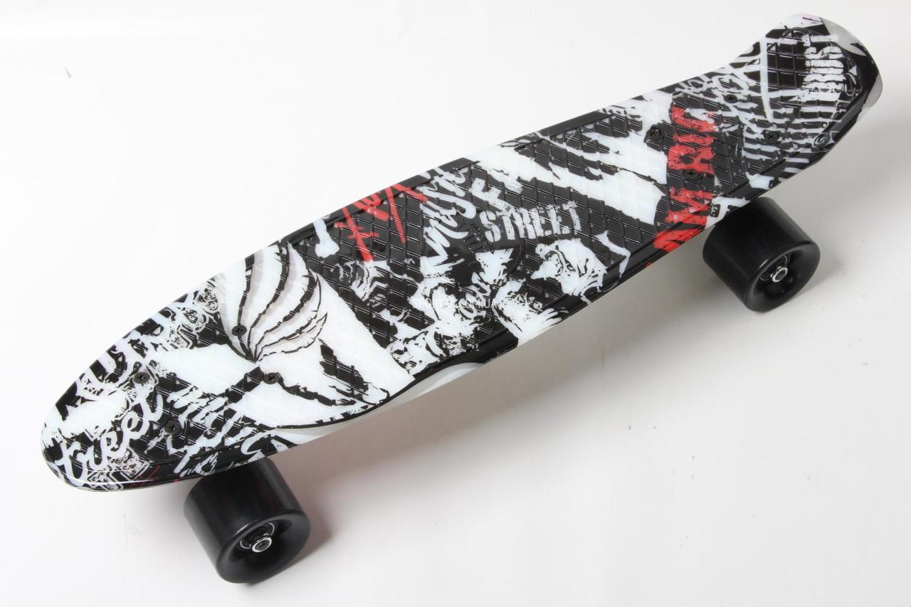 1b478ef8c2e1 Купить Скейт Пенни Борд Print, Penny Board Original 22 c Рисунком Принт  Street с черными