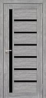 Дверь VALENTINO DeLuxe  VLD-01. Со стеклом сатин (эш-вайт,дуб браш,ясень белый). KORFAD(КОРФАД)
