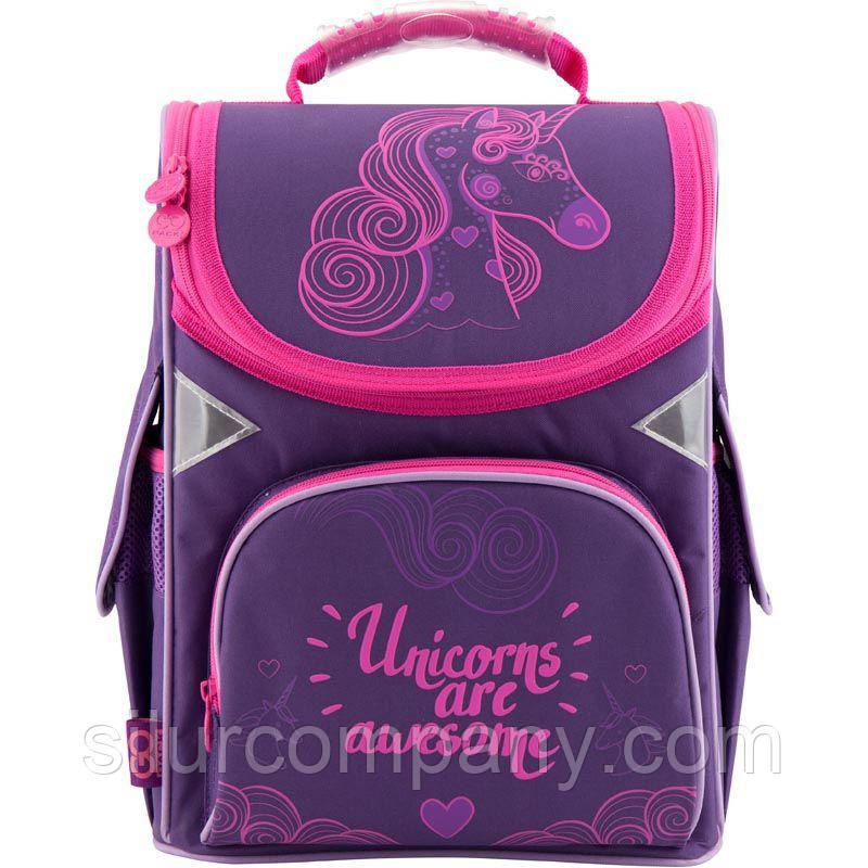 afc206755c49 Каркасный рюкзак портфель для девочки Единорог Gopack GO18-5001S, фото 1