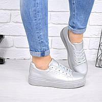 Женские кроссовки криперы серебро.Очень удобные и мягкие.